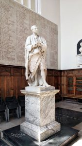 Statue of Sir Isaac Newton in Trinity college chapel