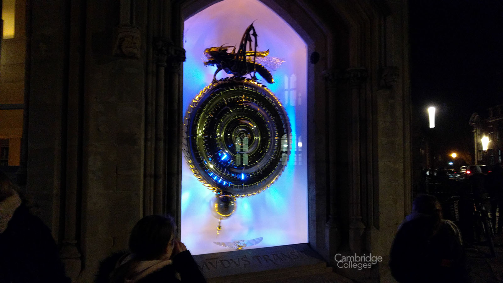 The Corpus chronophage at night