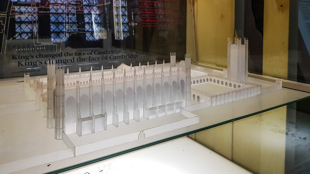 Model of the original design of King's college