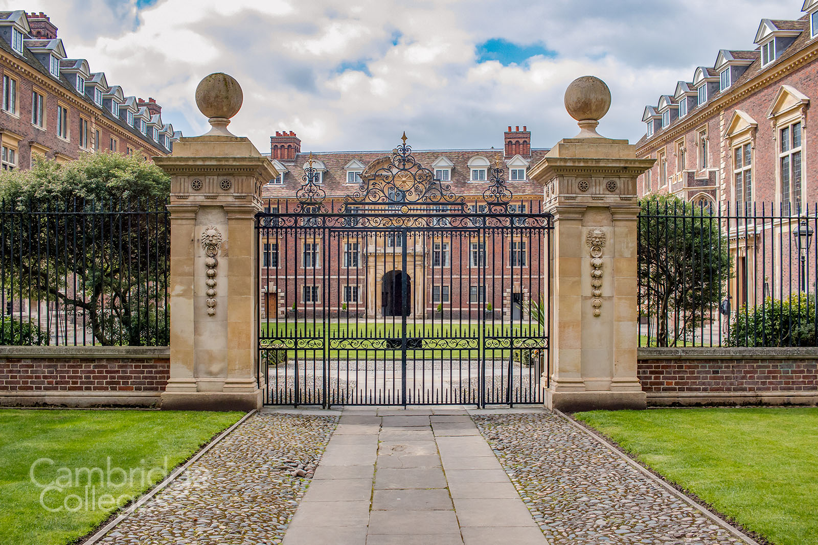 The gates of St Catharine's college