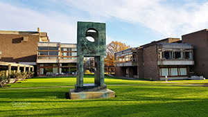 Thumbnail image of sculpture in the grounds of Churchill college