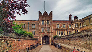 The pedestrian entrance to Jesus college, Cambridge