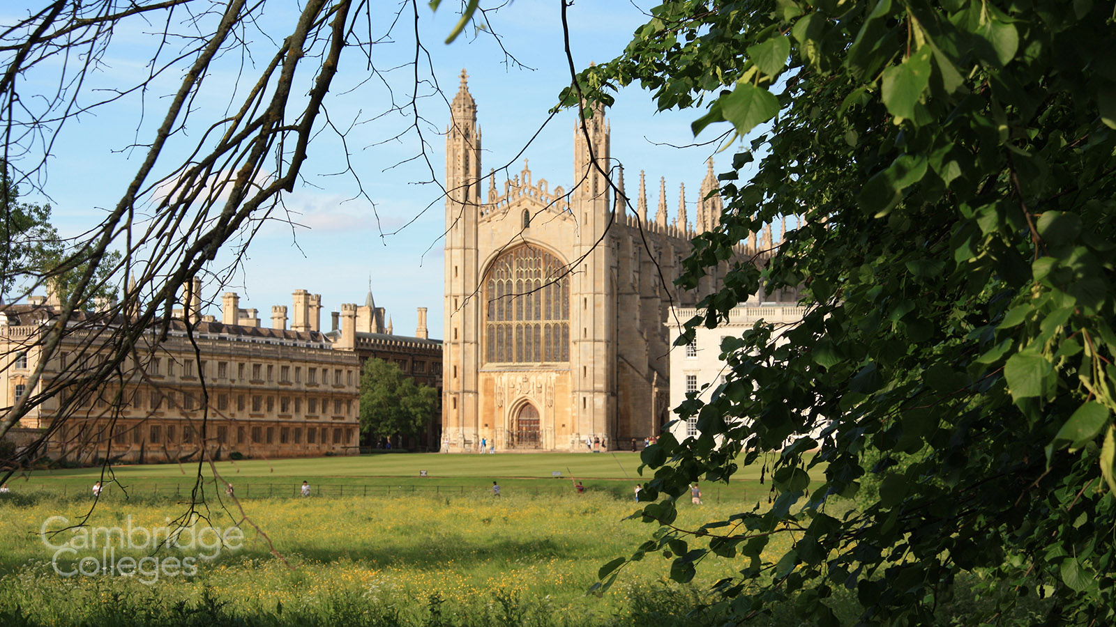 A view of King's college chapel from the Cambridge backs