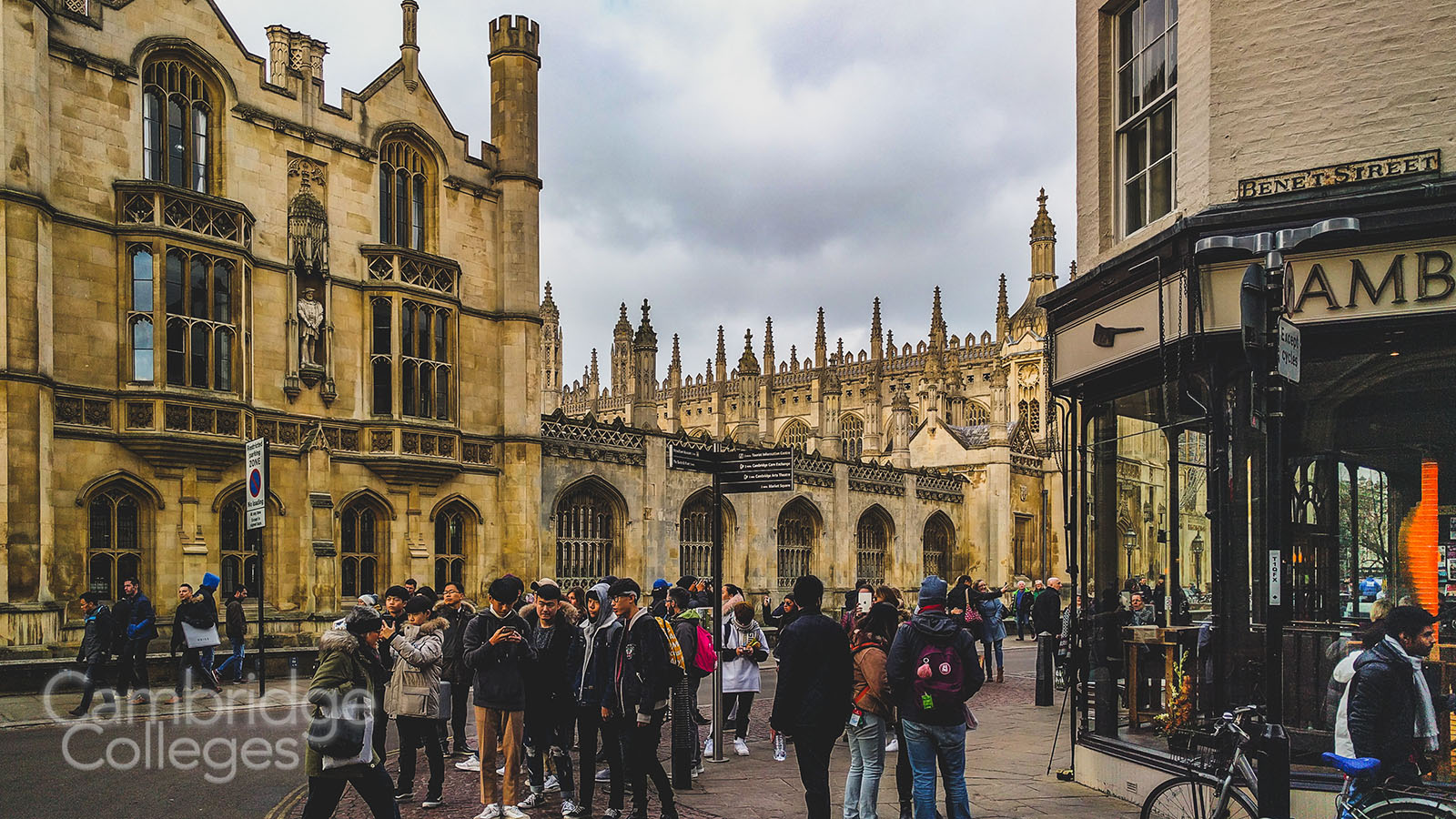King,s college and King's parade in Cambridge