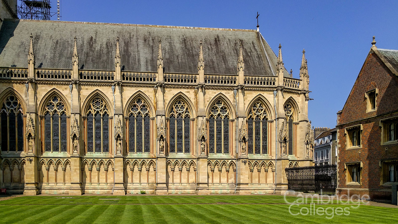 st johns college chapel, seen from inside first court