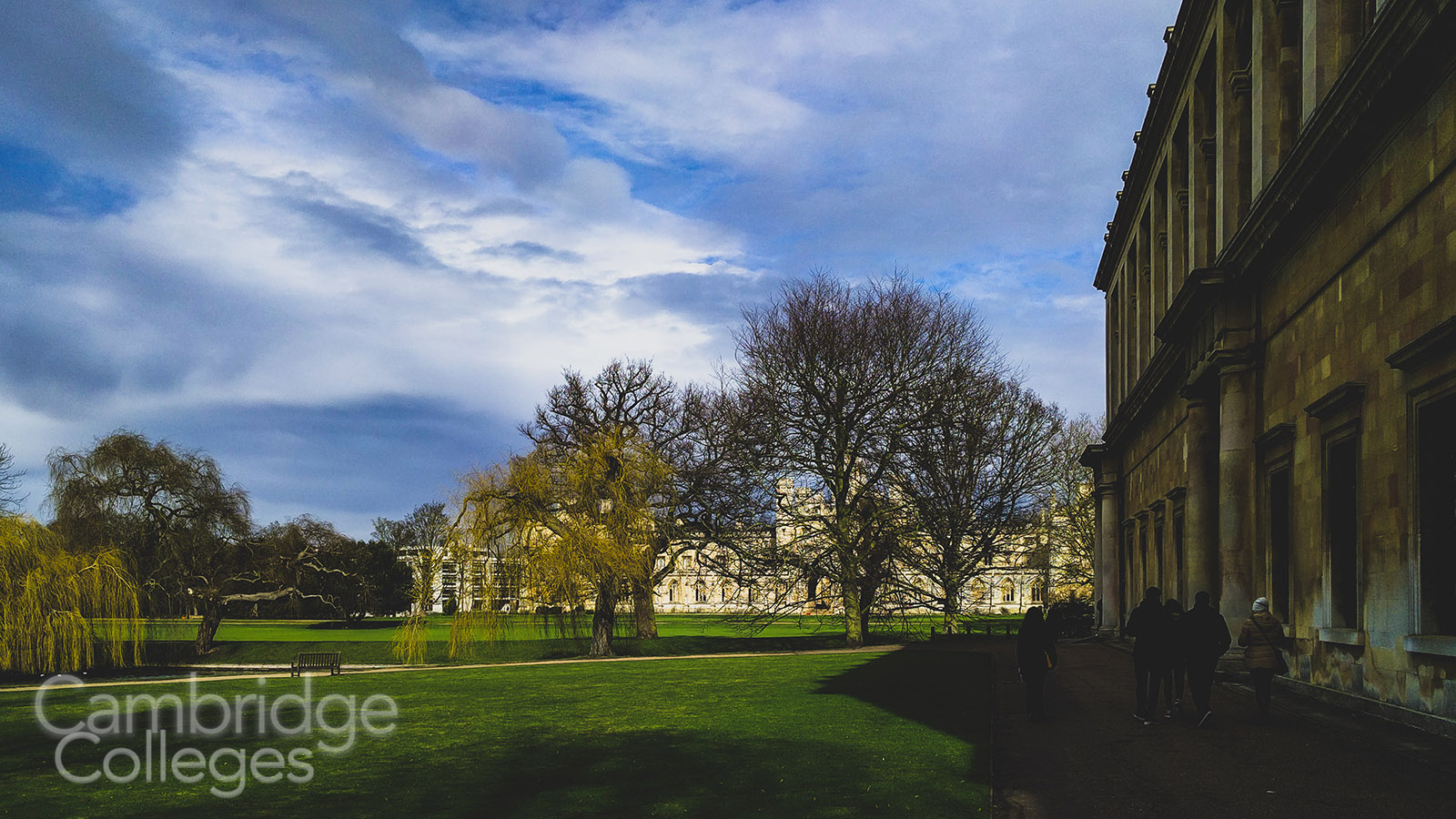 A view of St John's College from outside the Wren Library at Trinity