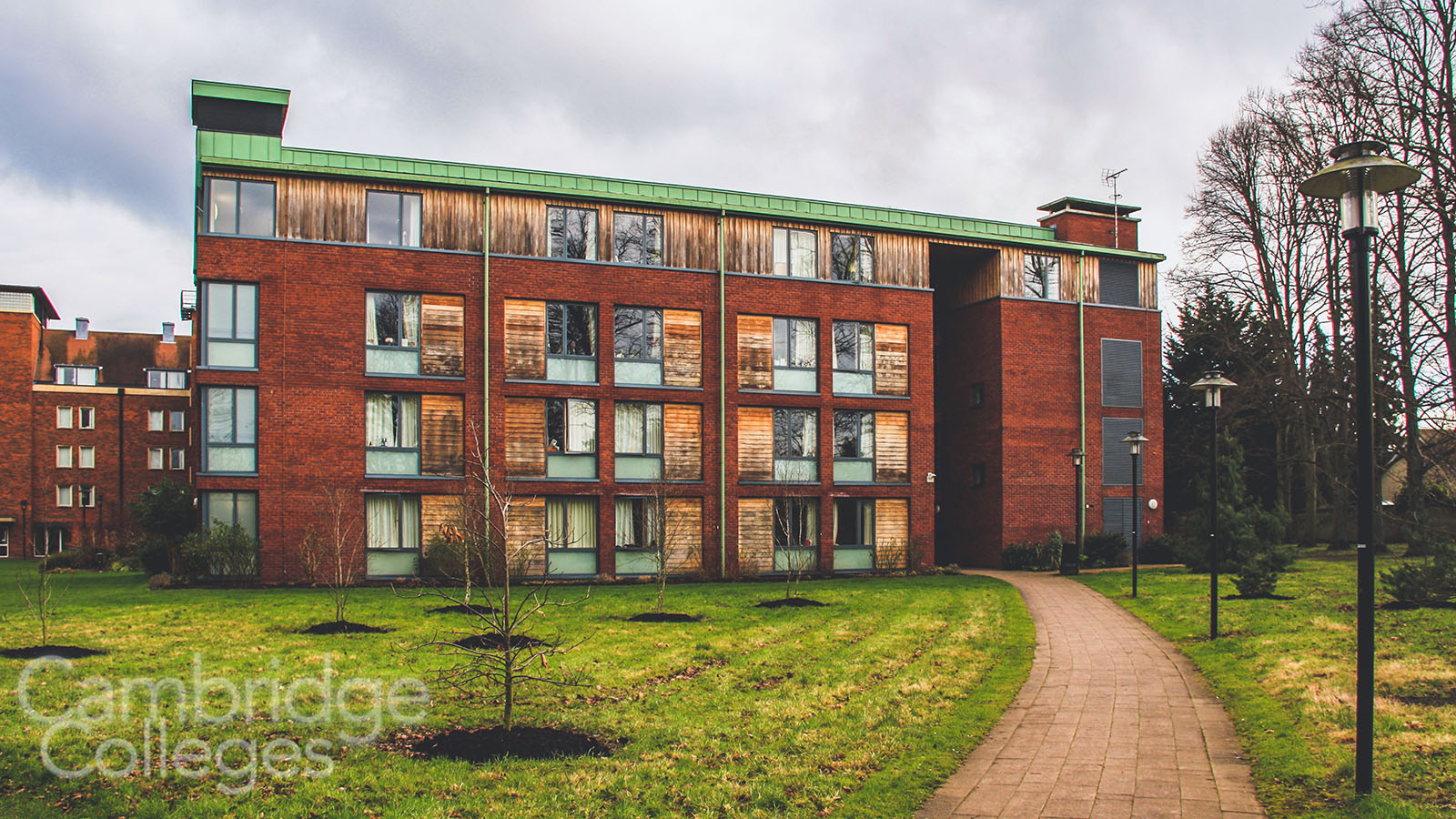 Modern accommodation block at Homerton