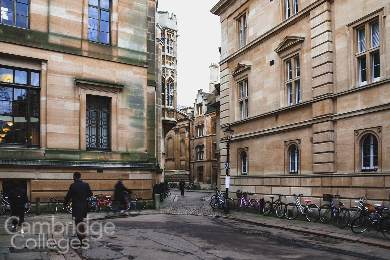 The point where Trinity Hall, Clare and Gonville and Caius Colleges all meet