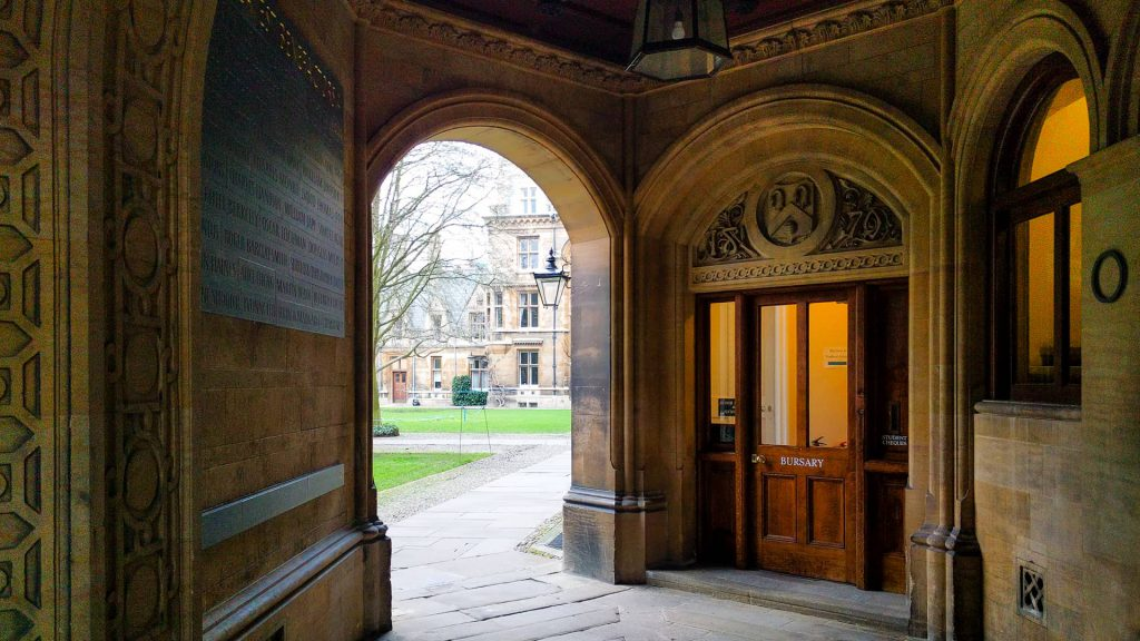 The Gate of Humility and Porters lodge and Gonville and Caius college