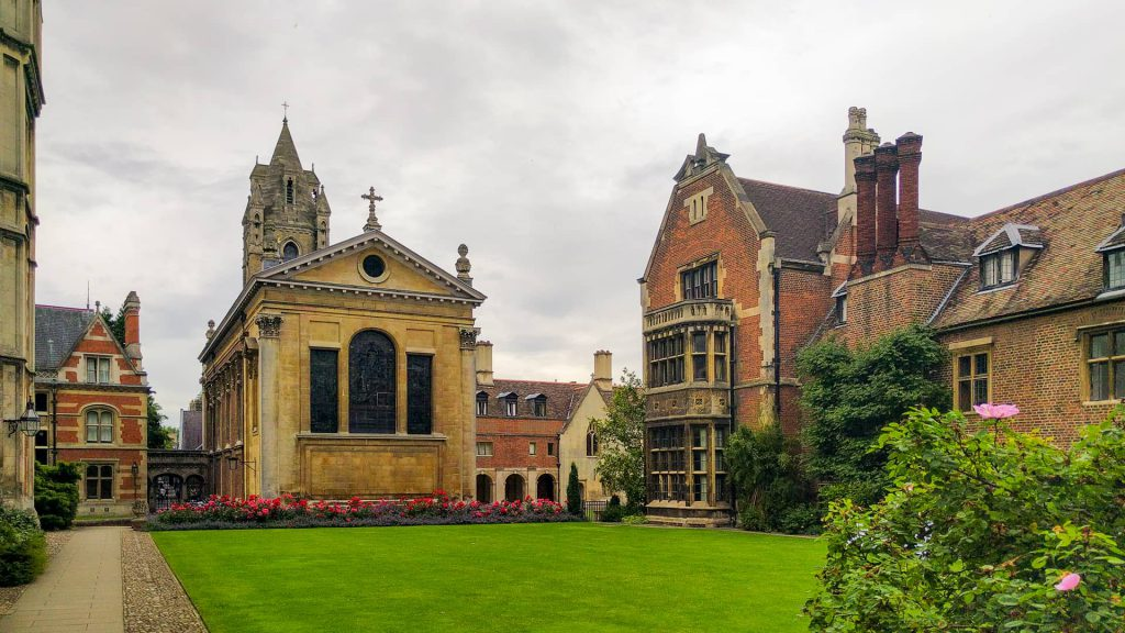 The grounds of Pembroke College, Cambridge