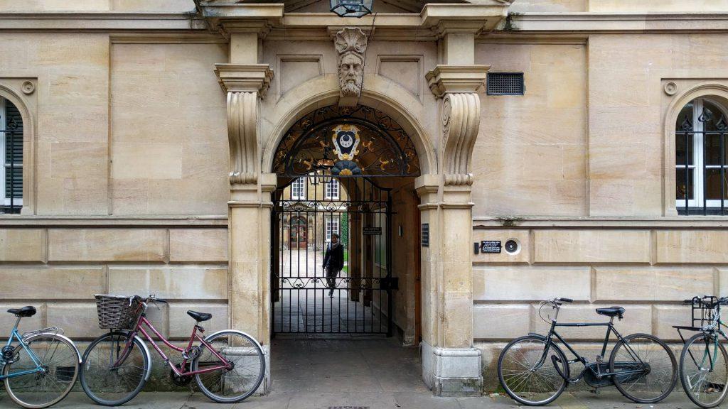 Trinity Hall entrance gate