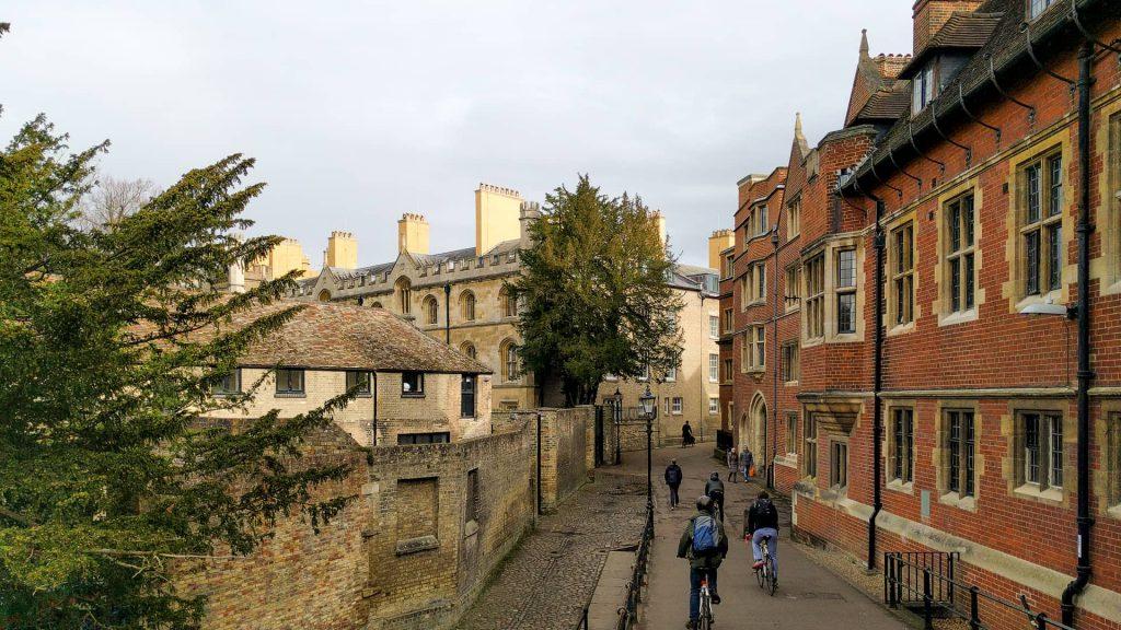 Garett Hostel lane in Cambridge